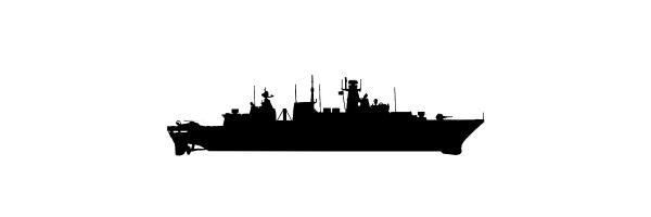 Navy Rings of German Frigate Class 124