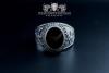 """F207"" Frigate Bremen Coat Navy Signet Ring size 57 spinel purpur"