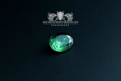 """F207"" Frigate Bremen Coat Navy Signet Ring size 58 emerald green"