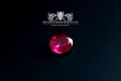 Traditions-Ring der Artillerie Größe 59 Rubin-Rot