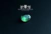"""F207"" Frigate Bremen Coat Navy Signet Ring size 59 emerald green"