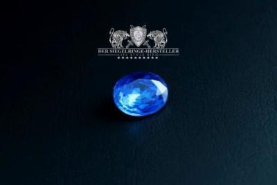 """F207"" Frigate Bremen Coat Navy Signet Ring size 62 sapphire blue"