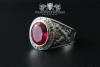 Traditions-Ring der Artillerie Größe 63 Rubin-Rot