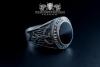 """F207"" Frigate Bremen Coat Navy Signet Ring size 63 sapphire blue"
