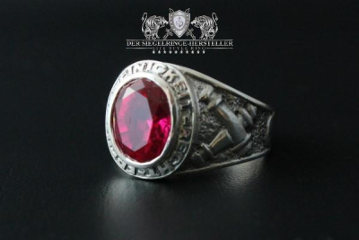 Traditions-Ring der Artillerie Größe 66 Rubin-Rot
