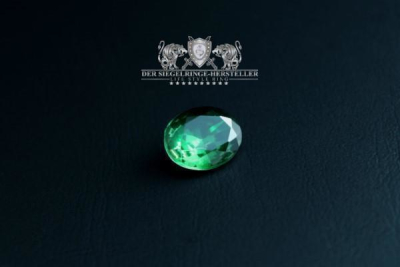 """F207"" Frigate Bremen Coat Navy Signet Ring size 70 emerald green"