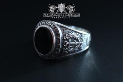 Traditions-Ring der Seefahrer Größe 59 Jäger-Grün (Achat, flach)