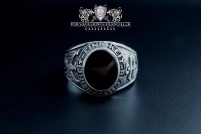 Traditions-Ring der Seefahrer Größe 60 Rubin-Rot
