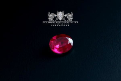 Traditional ring of sailors size 69 ruby red