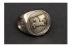 """F208"" Frigate Niedersachsen Coat Navy Signet Ring Size 57"