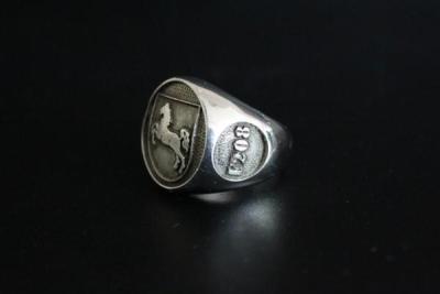"""F208"" Frigate Niedersachsen Coat Navy Signet Ring Size 60"