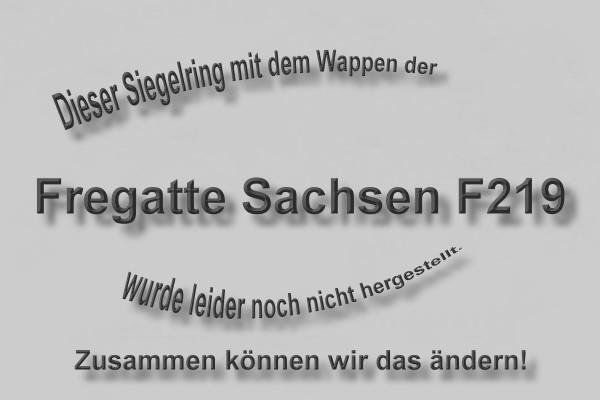 """""""F219"""" Fregatte Sachsen Wappen Marine-Siegelring Größe 66"""