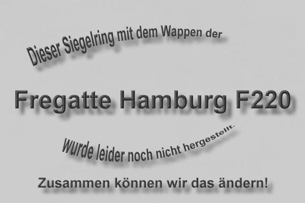 """""""F220"""" Fregatte Hamburg Wappen Marine-Siegelring Größe 60"""