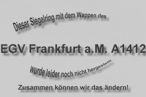 """A1412"" EGV Frankfurt am Main Wappen Marine-Siegelring Größe 63"