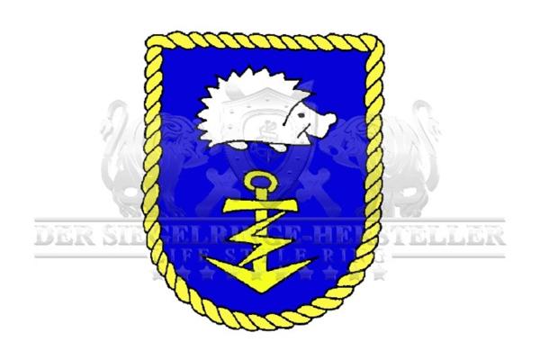 """A52"" Flottendienstboot Oste Wappen Marine-Siegelring Größe 69"