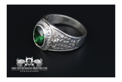 Traditional ring of German army hunter troupe size 64...