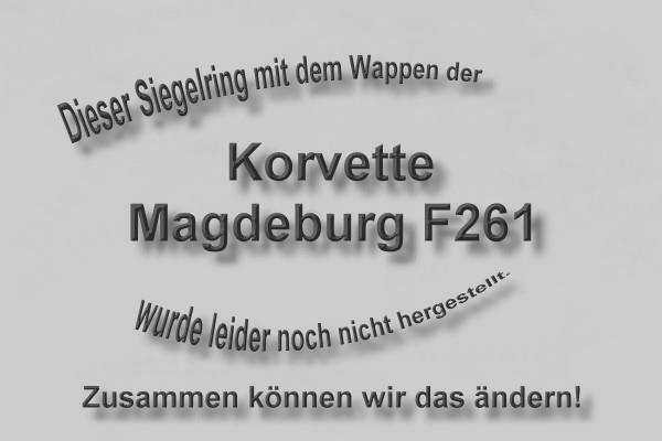 """F261"" Korvette Magdeburg Wappen Marine-Siegelring Größe 69"