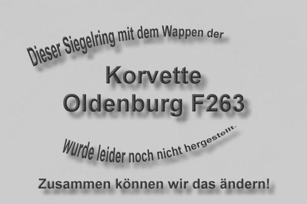 """""""F263"""" Korvette Oldenburg Wappen Marine-Siegelring Größe 54"""