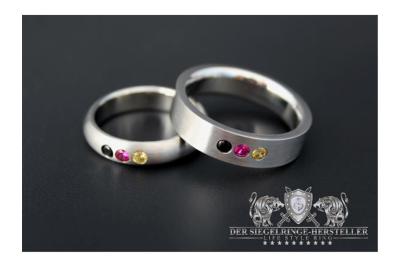 Edelstahl-Ring, vierkantig, aus der Deutschland-Kollektion