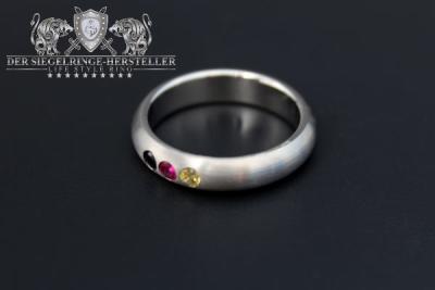 Silber-Ring, halbrund, aus der Deutschland-Kollektion