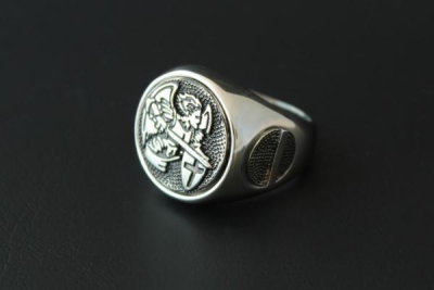Saint Michael Police Ring Size 54