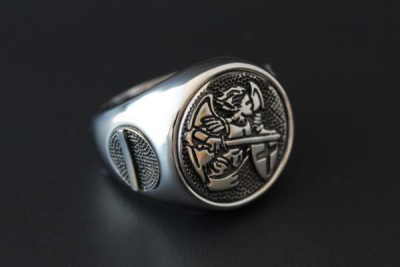 Saint Michael Police Ring Size 60