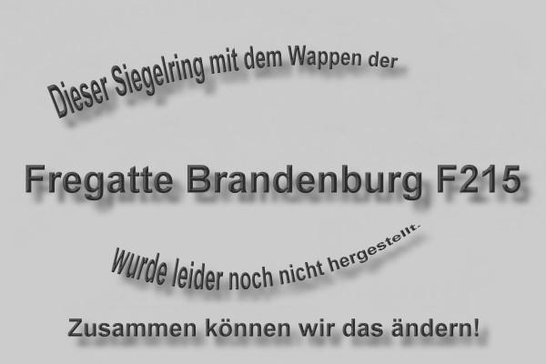 """""""F215"""" Fregatte Brandenburg Wappen Marine-Siegelring Größe 57"""