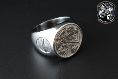 Saint Michael Police Ring