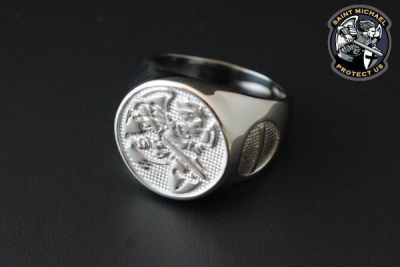 Saint Michael Police Ring Size 69