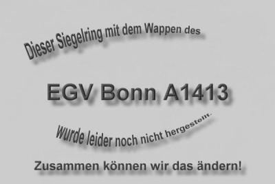 """""""A1413"""" EGV Bonn Wappen Marine-Siegelring"""