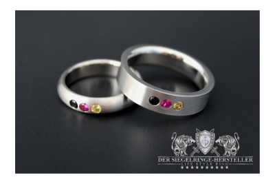 Edelstahl-Ring, halbrund, aus der Deutschland-Kollektion