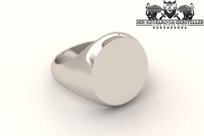 Runder Silberring aus 925er Sterling-Silber