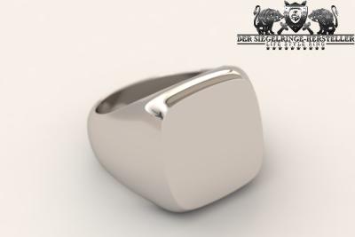 Eckiger Silberring aus 925er Sterling-Silber