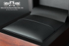 Jewellery Box of real wood & black leather