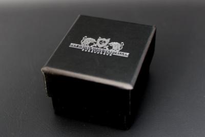 Siegelring-Etui, Karton, schwarz