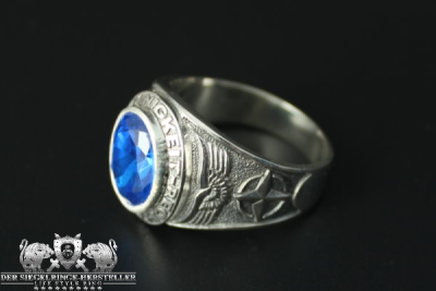 Traditional ring of German Bundeswehr air force size 71...