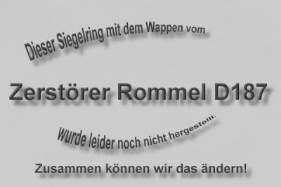 """""""D187"""" Zerstörer Rommel Wappen..."""